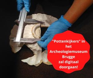 Pottenkijkers in het voormalige Archeologiemuseum